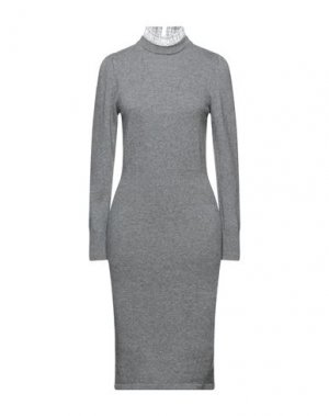 Платье до колена DIXIE. Цвет: серый