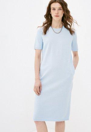 Платье Katya Erokhina Plain Blue. Цвет: голубой