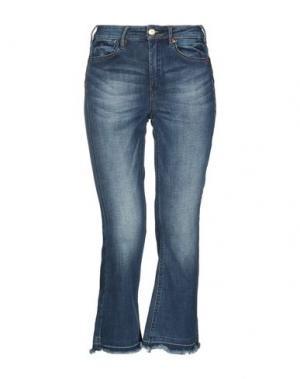 Джинсовые брюки-капри SCOTCH & SODA. Цвет: синий