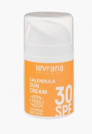 Крем для загара Levrana Календула 30 SPF ,50мл. Цвет: белый
