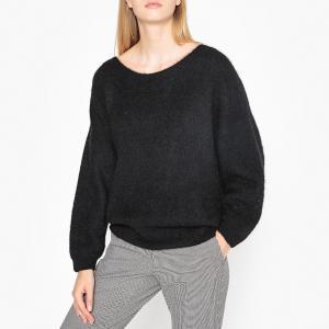 Пуловер трикотажный с вырезом-лодочкой WOXILEN AMERICAN VINTAGE. Цвет: грейпфрут,хаки