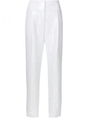Зауженные брюки Kaufmanfranco. Цвет: белый