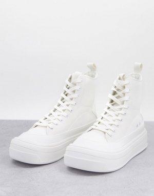 Белые кроссовки на массивной подошве -Белый ASOS DESIGN