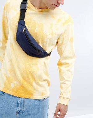 Фестивальная парусиновая сумка-кошелек на пояс 7X. Цвет: серый