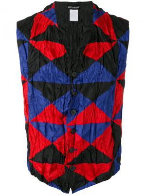 Жилетка с треугольным принтом Issey Miyake Vintage. Цвет: разноцветный