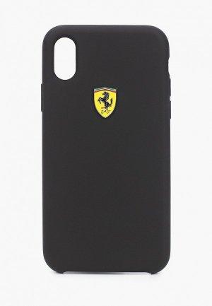 Чехол для iPhone Ferrari X / XS, On-Track SF Silicone case TPU Black. Цвет: черный