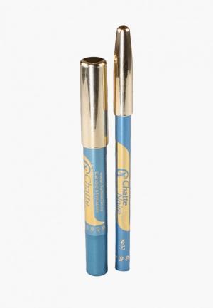 Набор для макияжа глаз Chatte Noire Карандаш + Карандаш-тени №55, 5,75. Цвет: голубой
