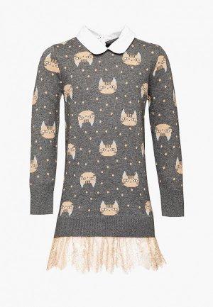 Платье Gulliver. Цвет: коричневый