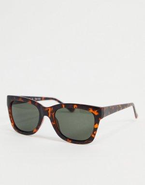 Солнцезащитные очки в черепаховой оправе -Коричневый цвет AJ Morgan