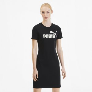 Платье ESS+ Fitted Dress PUMA. Цвет: черный