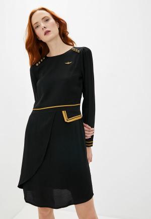 Платье Aeronautica Militare. Цвет: черный