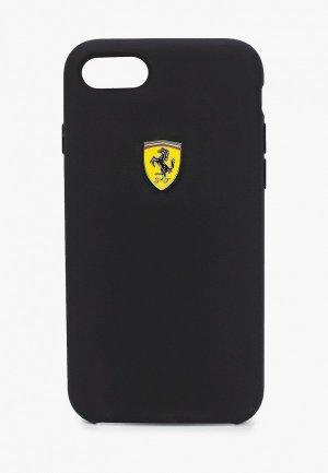 Чехол для iPhone Ferrari 8 / SE 2020, On-track SF Silicone case TPU Black. Цвет: черный