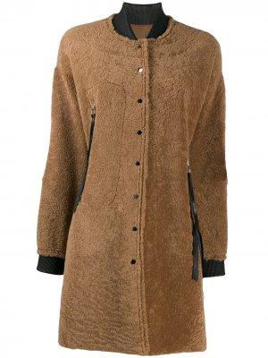 Фактурное пальто-бомбер Liska