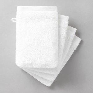 Комплект из 4 банных рукавичек LaRedoute. Цвет: розовый