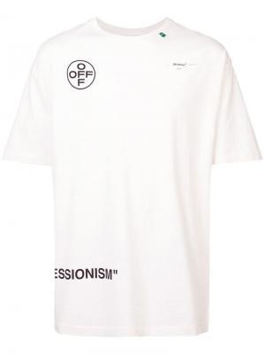 Футболка Impressionism S/S Off-White. Цвет: белый