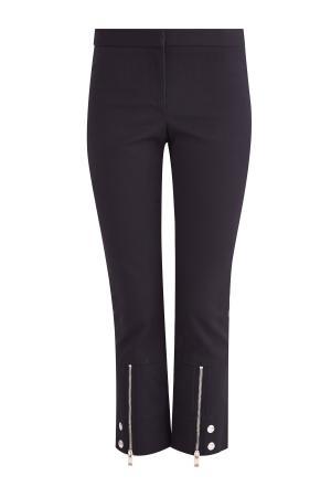Укороченные брюки с молниями и заклепками ALEXANDER MCQUEEN. Цвет: черный