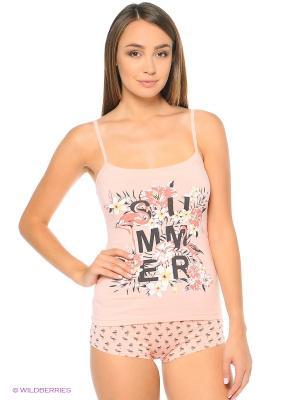 Комплект белья: майка; трусы Mark Formelle. Цвет: бледно-розовый
