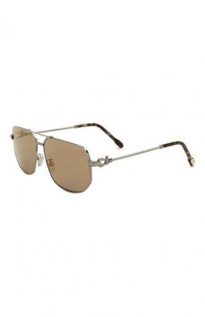 Солнцезащитные очки Fred. Цвет: коричневый