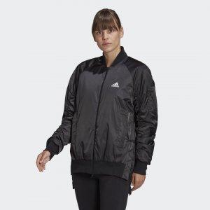 Утепленная куртка VRCT Athletics adidas. Цвет: черный