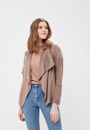 Куртка кожаная Wallis WA007EWAYXI3. Цвет: бежевый