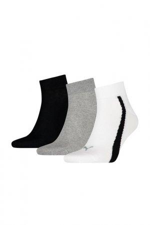 Носки LIFESTYLE QUARTERS 3P Puma. Цвет: серый