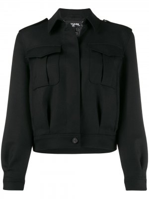 Куртка-бомбер Army Karl Lagerfeld. Цвет: черный