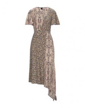 Платье длиной 3/4 GLAMOROUS. Цвет: бежевый