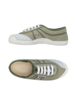 Низкие кеды и кроссовки KAWASAKI. Цвет: зеленый-милитари