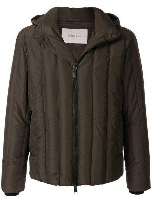 Стеганая куртка с капюшоном Cerruti 1881. Цвет: зеленый