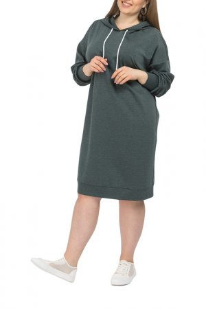 Платье La Via Estelar. Цвет: зеленый меланж
