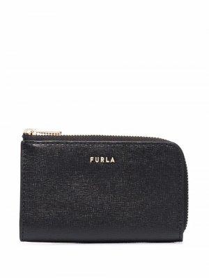 Zipped leather purse Furla. Цвет: черный