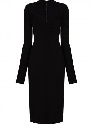 Платье с вырезом в форме сердца Dolce & Gabbana. Цвет: черный