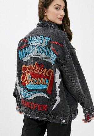 Куртка джинсовая Forza Viva. Цвет: черный
