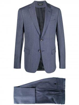 Костюм с однобортным пиджаком Z Zegna. Цвет: синий
