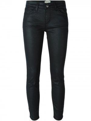Вощеные джинсы кроя скинни Current/Elliott. Цвет: черный
