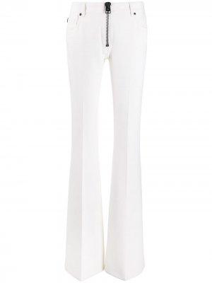 Расклешенные брюки с большой молнией Tom Ford. Цвет: белый