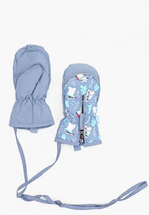 Варежки TuTu. Цвет: голубой