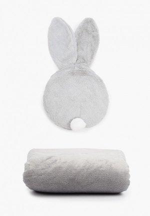 Подушка декоративная Dream Time и плед. Цвет: серый