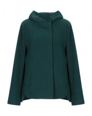 Пальто MANUELA CONTI. Цвет: темно-зеленый