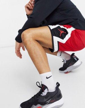 Красные баскетбольные шорты Nike Jumpman Diamond-Красный Jordan