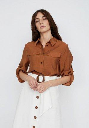 Блуза Lime. Цвет: коричневый