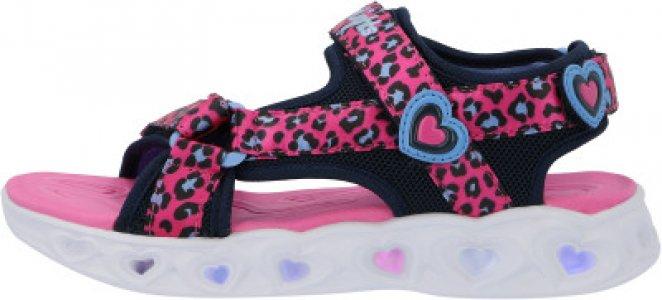 Сандалии для девочек Heart Lights, размер 31.5 Skechers. Цвет: розовый