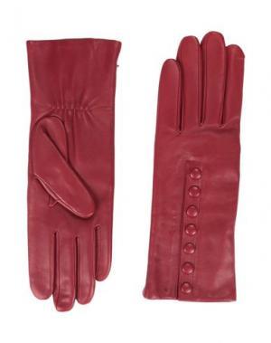 Перчатки AGNELLE. Цвет: кирпично-красный