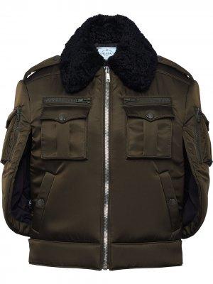 Куртка-кейп Prada. Цвет: зеленый