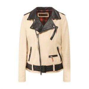 Кожаная куртка 1903 Harley-Davidson. Цвет: бежевый