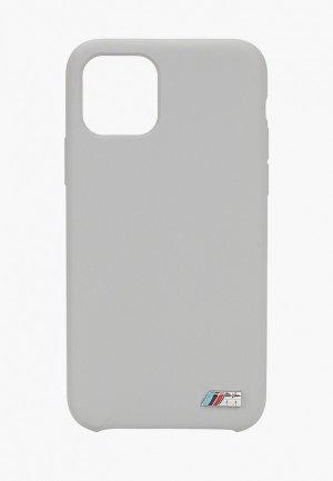 Чехол для iPhone BMW 11 Pro, M-Collection Liquid silicone Grey. Цвет: серый