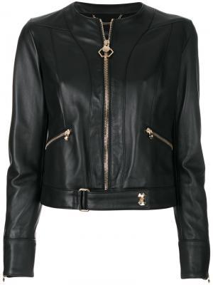 Куртка на молнии Philipp Plein. Цвет: чёрный