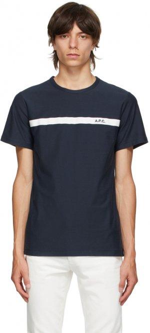 Navy Yukata T-Shirt A.P.C.. Цвет: iak darknav
