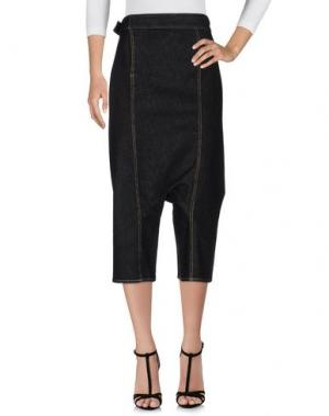 Джинсовые брюки-капри S°N. Цвет: черный