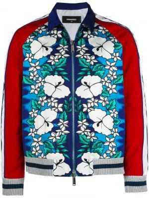 Куртка-бомбер с гавайским принтом Dsquared2